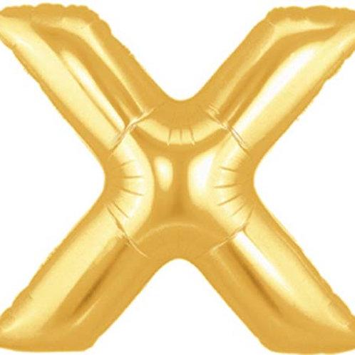 "40"" Gold X Foil Letter Balloon"