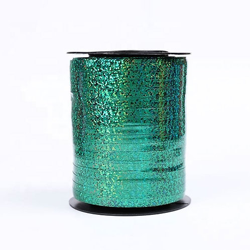 Green Holographic Metallic Curling Ribbon