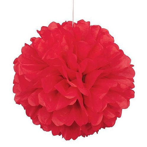 Red Tissue Paper Pompom