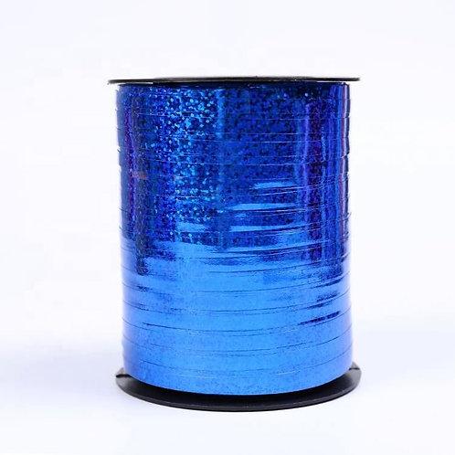 Blue Holographic Metallic Curling Ribbon