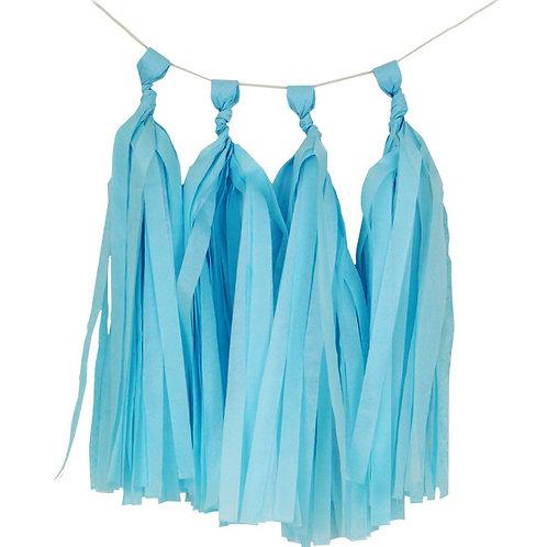 Light Blue Tassel Fringe