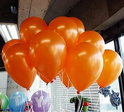 "10"" Orange Metallic Latex 100 Pcs"