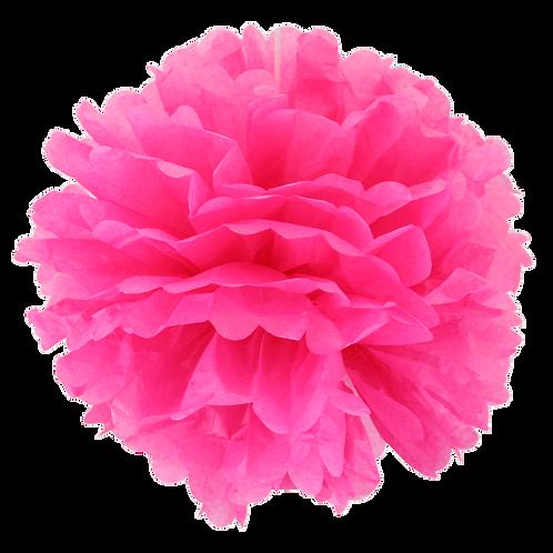 Dark Pink Tissue Paper Pompom