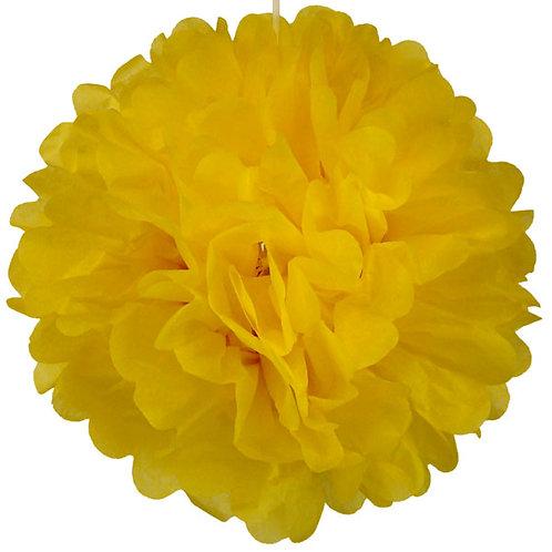 Yellow Tissue Paper Pompom