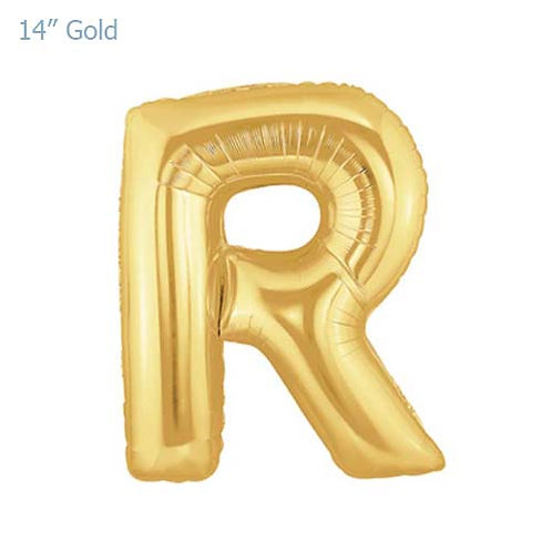 "14"" Gold R Foil Letter Balloon"