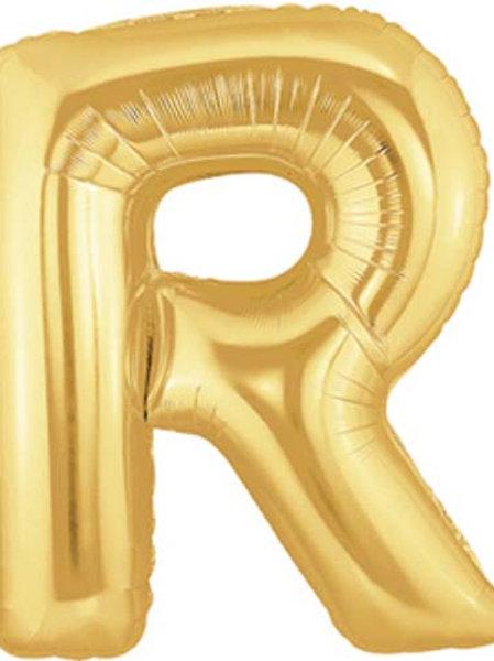 """40"""" Gold R Foil Letter Balloon"""