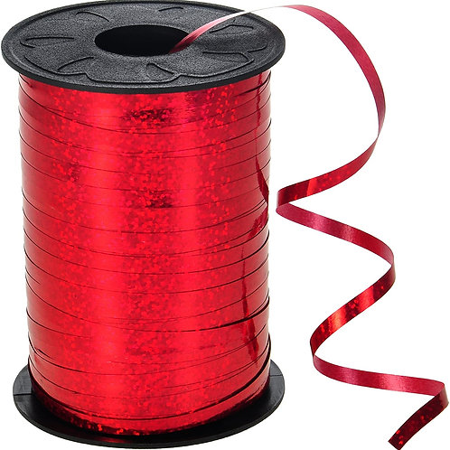 Red Holographic Metallic Curling Ribbon