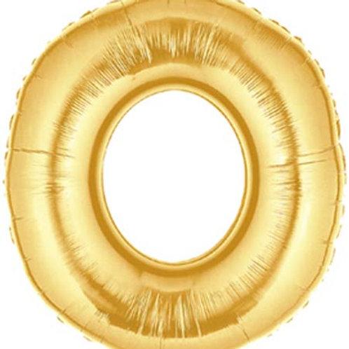 """40"""" Gold O Foil Letter Balloon"""