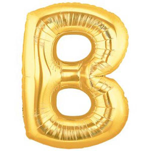 "40"" Gold B Foil Letter Balloon"
