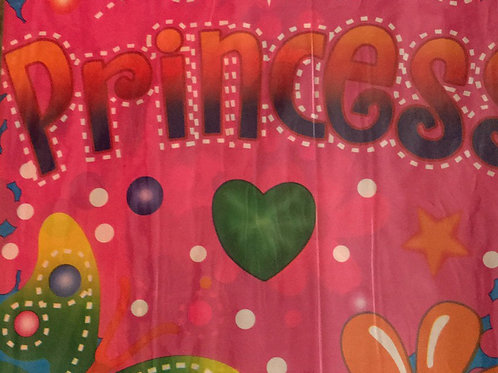 Princess Table Cover - Plastic
