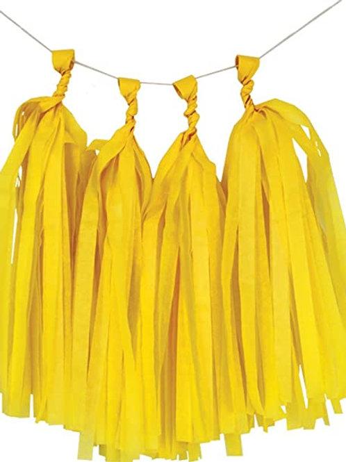 Yellow Tassel Fringe