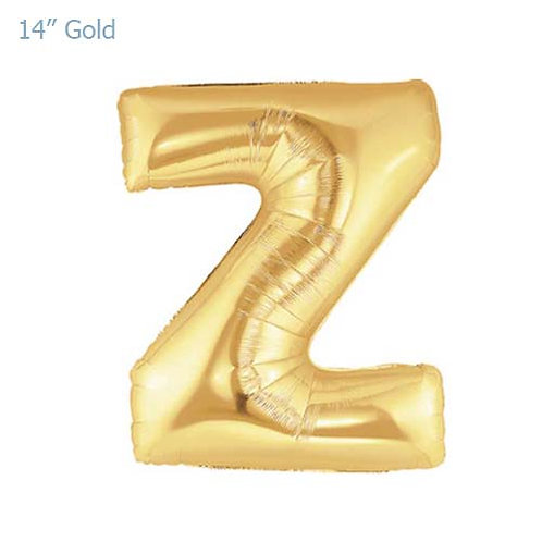 "14"" Gold Z Foil Letter Balloon"