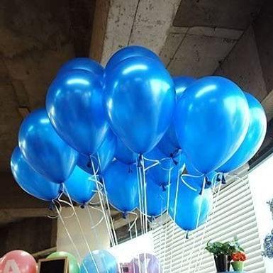 "10"" Blue Metallic Latex 100 Pcs"