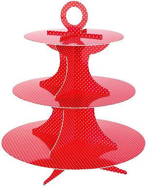 Polka Dot - 3 Tier Cupcake Stand