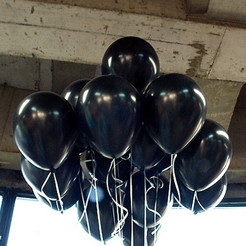 10 Pcs Black Latex Balloons