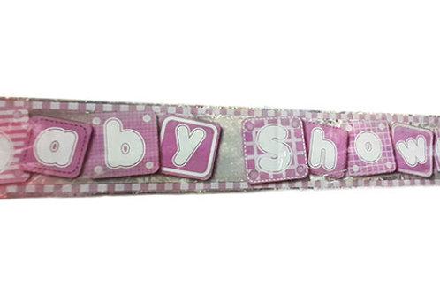 Girl Baby Shower Foil Banner