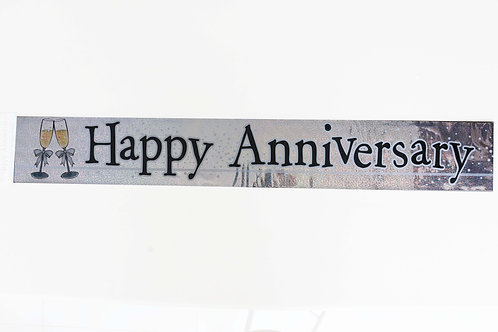 Happy Anniversary Holographic Foil Banner