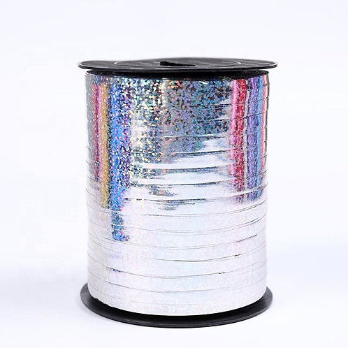 Silver Holographic Metallic Curling Ribbon