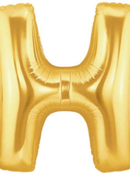 """40"""" Gold H Foil Letter Balloon"""