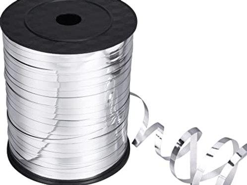 Silver Metallic Curling Ribbon