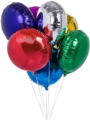 """18"""" Solid Color Round Shape Foil Balloons (1 Dozen)"""