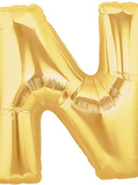 """40"""" Gold N Foil Letter Balloon"""