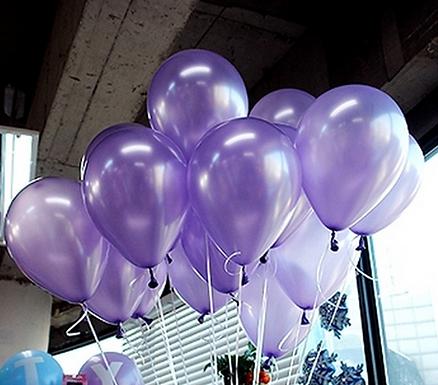 "10"" Purple Metallic Latex 100 Pcs"