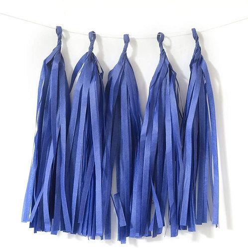 Dark Blue Tassel Fringe