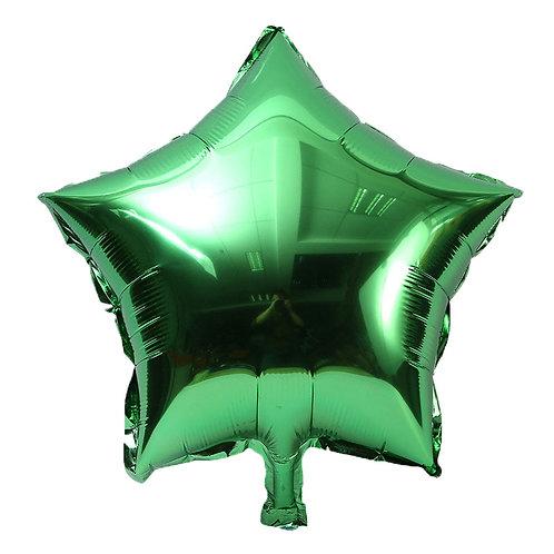 """Green Star Shape Foil Balloons 18"""""""