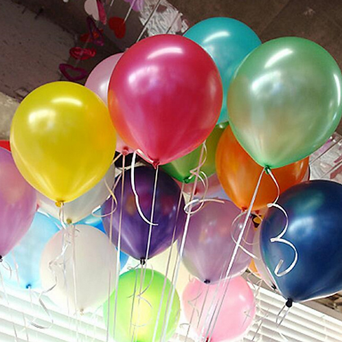10 Pcs Multi-Color Metallic Latex Balloons