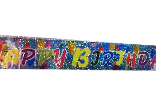 Happy Birthday Stars & Balloon Design Foil Banner