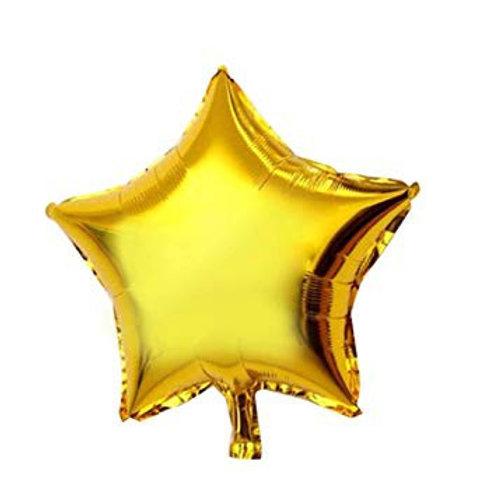 """Gold Star Shape Foil Balloons 18"""""""