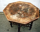 octagonal table before