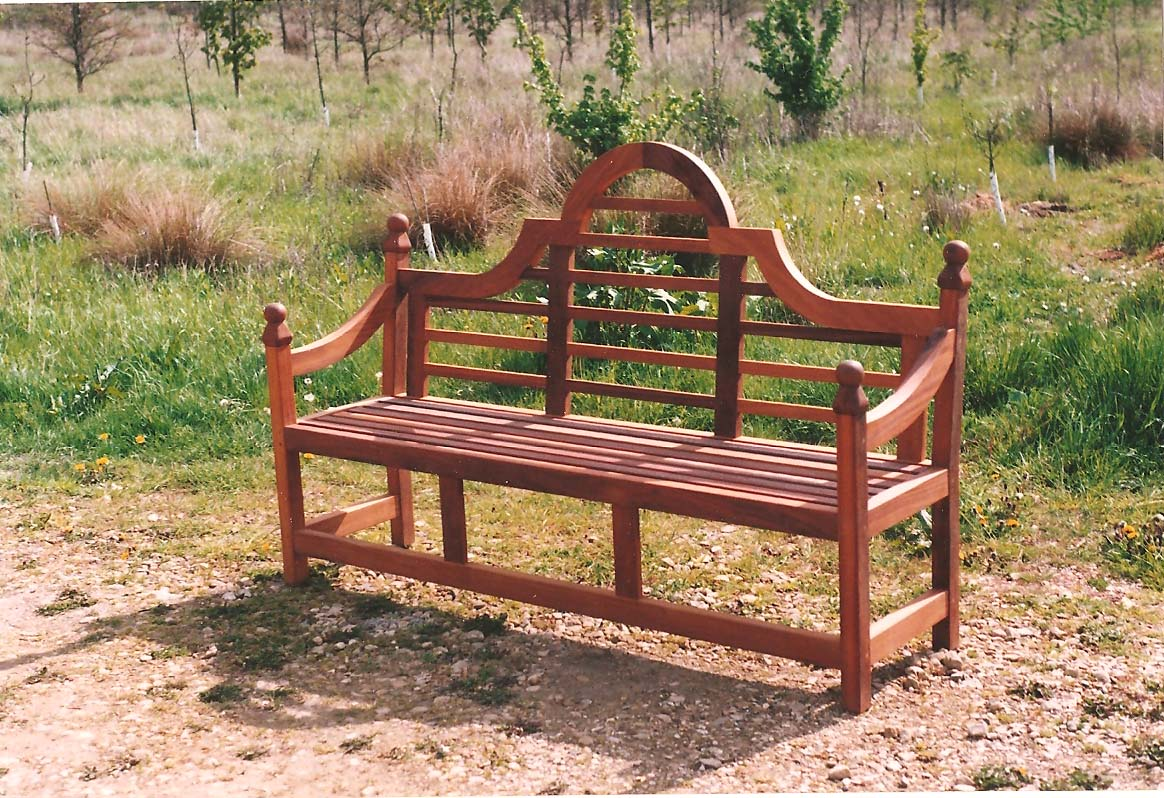 iroko garden bench