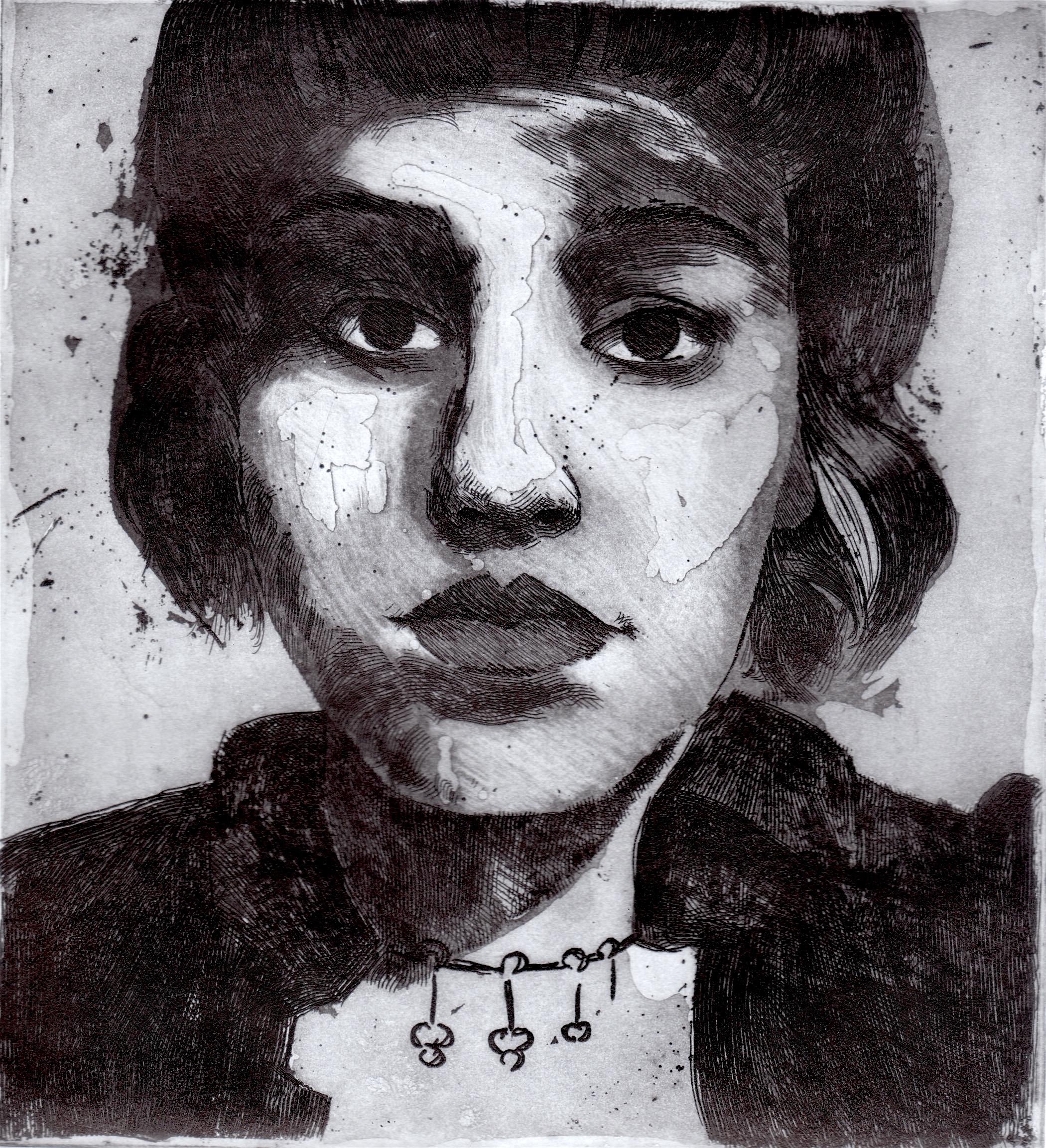 """""""Simplemente una mujer"""", Aguafuerte y Aguatinta"""