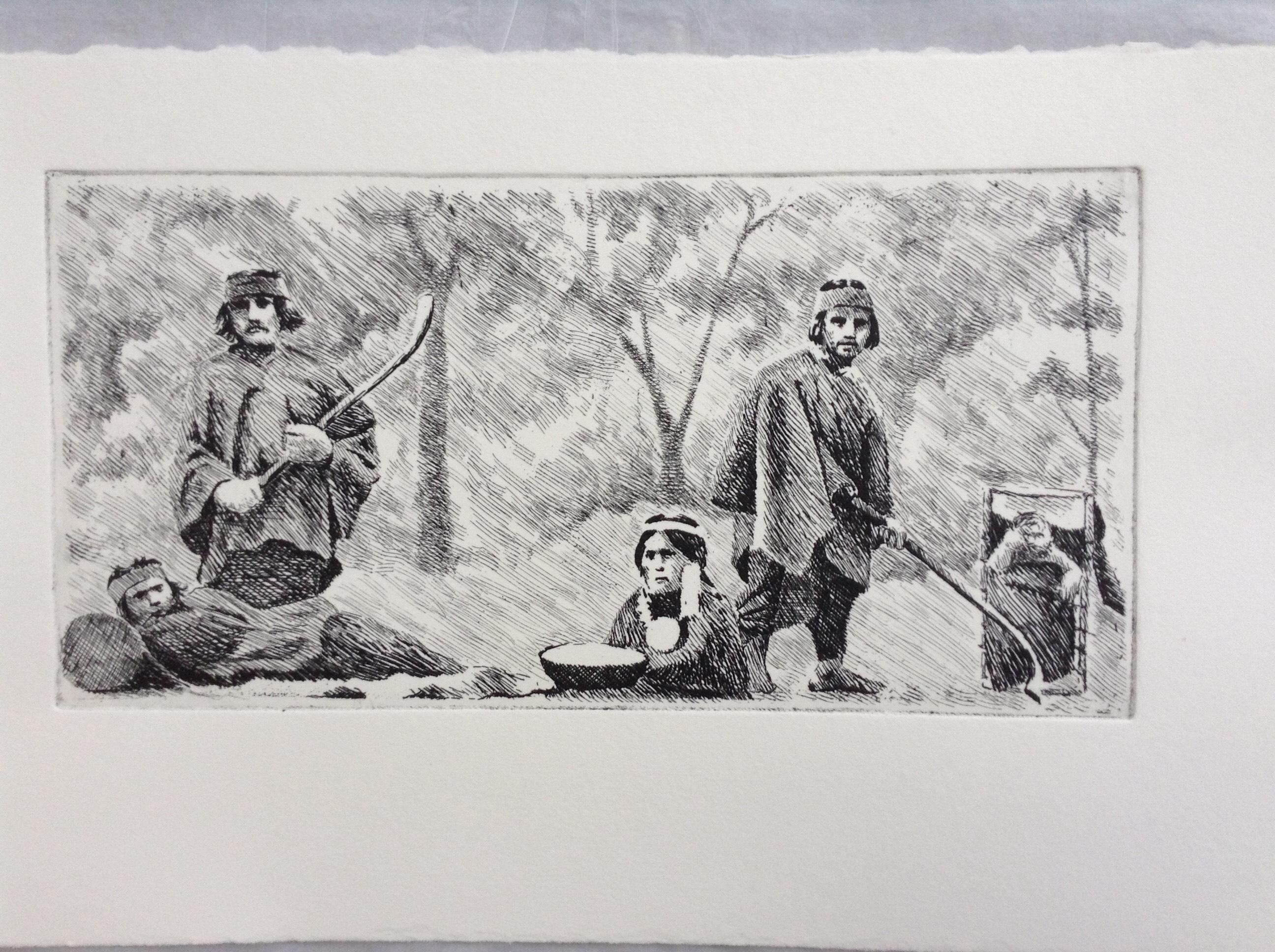 Araucanos en zoológico humano