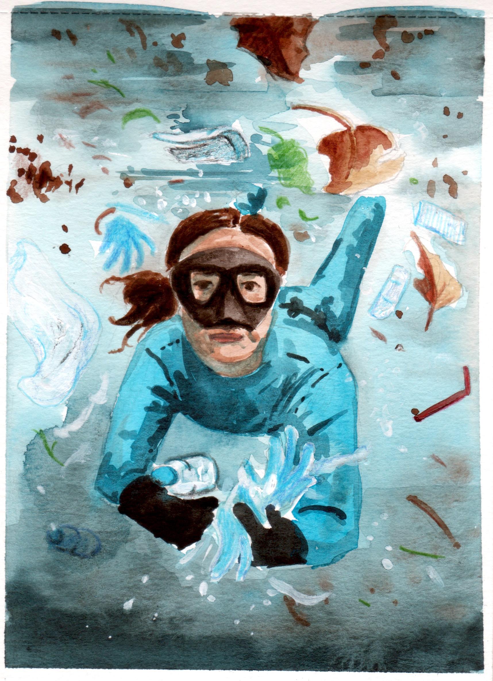 basura en el oceano