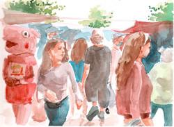 Feria en Peñalolén en tiempos de Coronavirus, comuna sin cuarentena