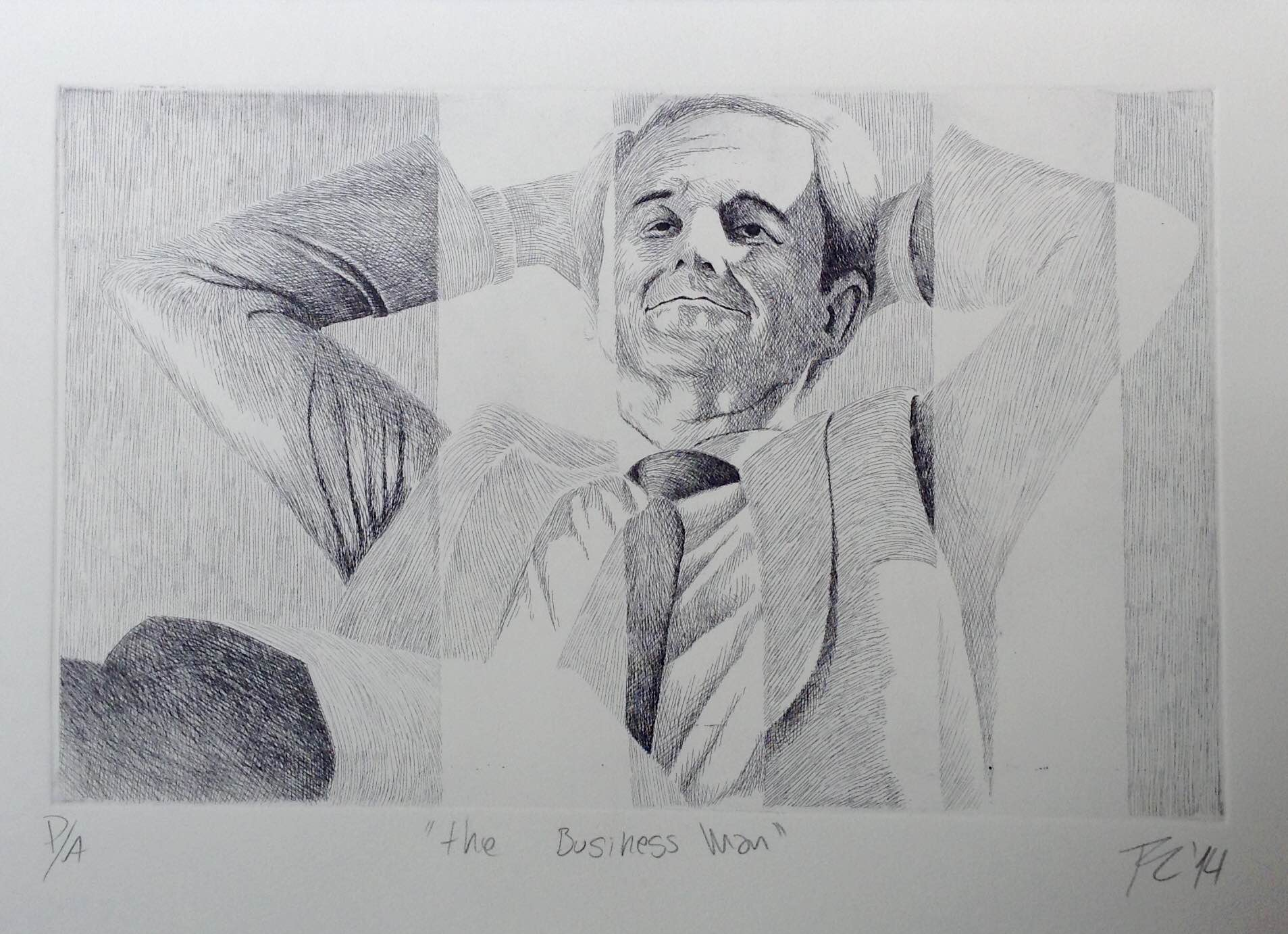 """The business man"", Aguafuerte"