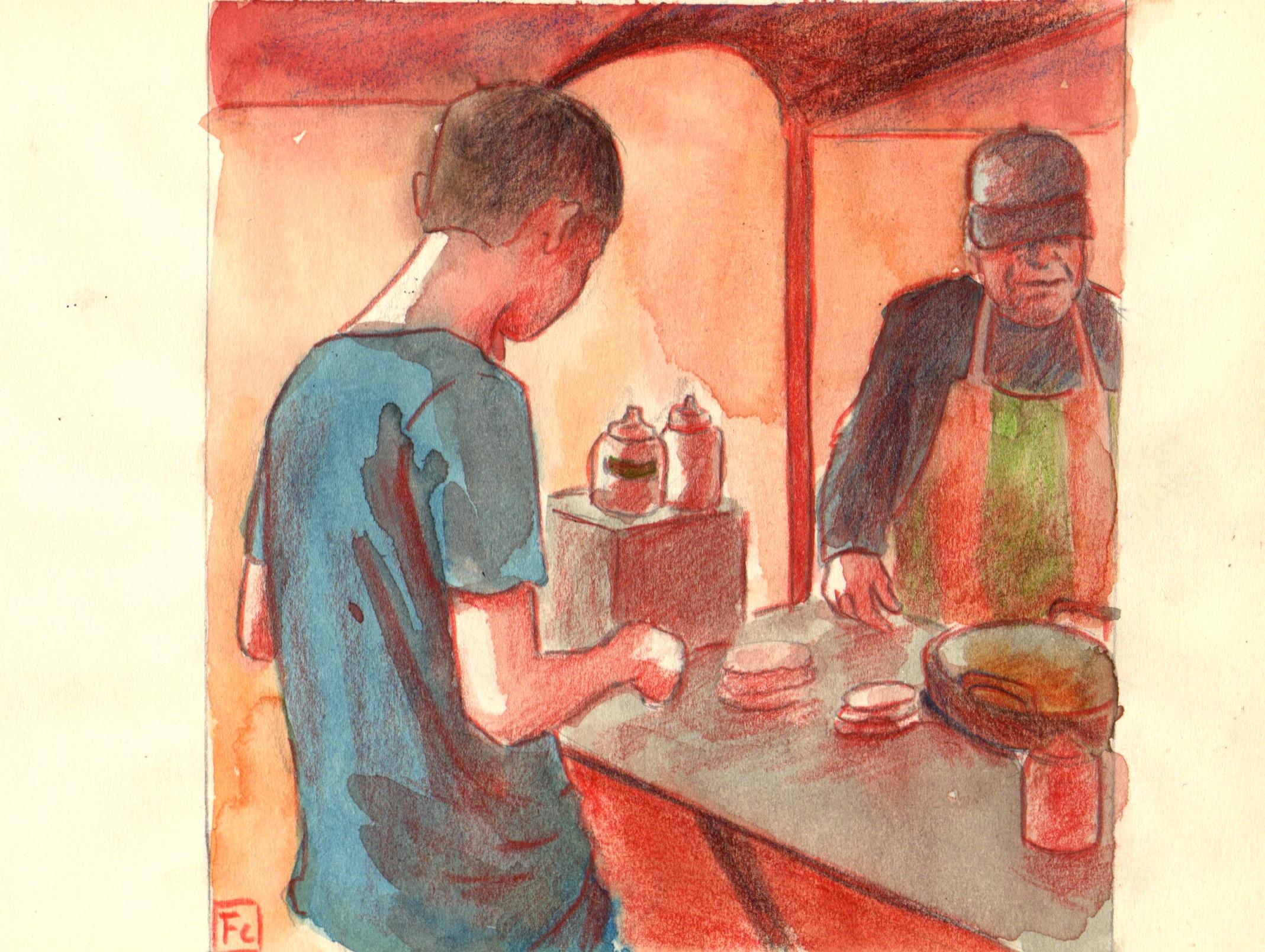 vendedor de sopaipillas