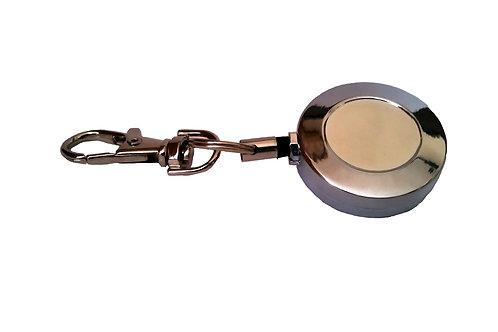 Porta gafete de metal retráctil tipo YOYO
