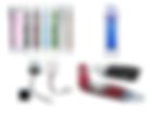 USB de diferentes tipos y capacidades, Power supply, Vasos y thermos, Bolígrafos, Libretas para notas, Antiestress 