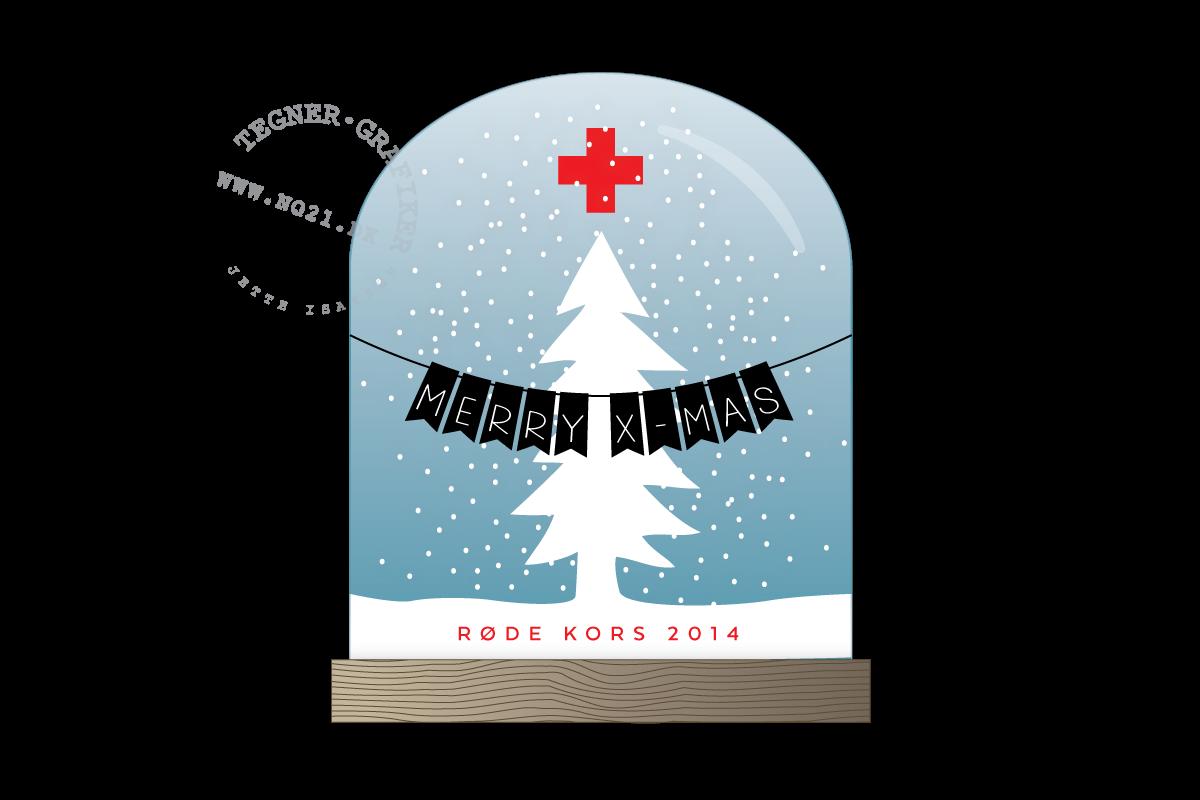 Julekort Røde Kors