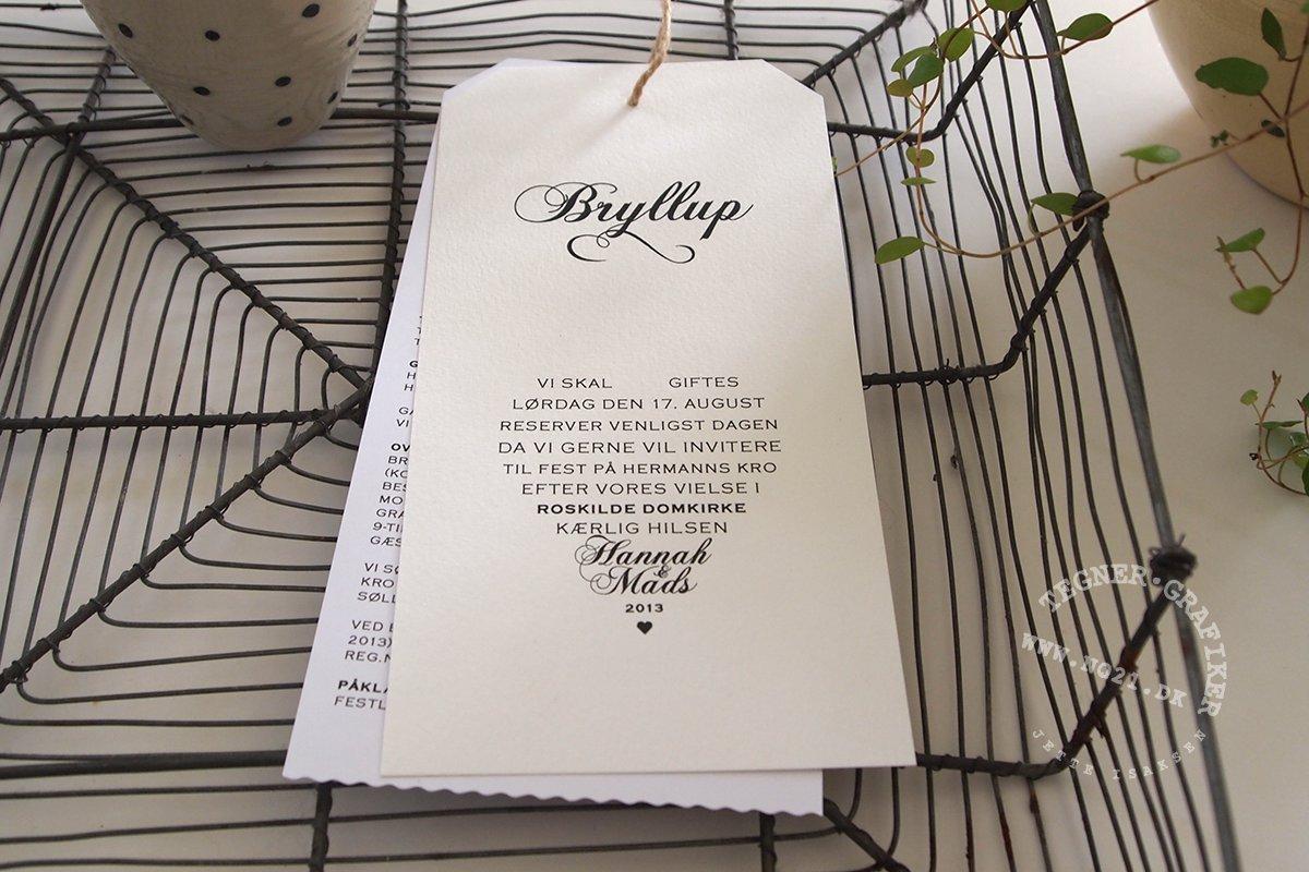 invitation / indbydelse bryllup