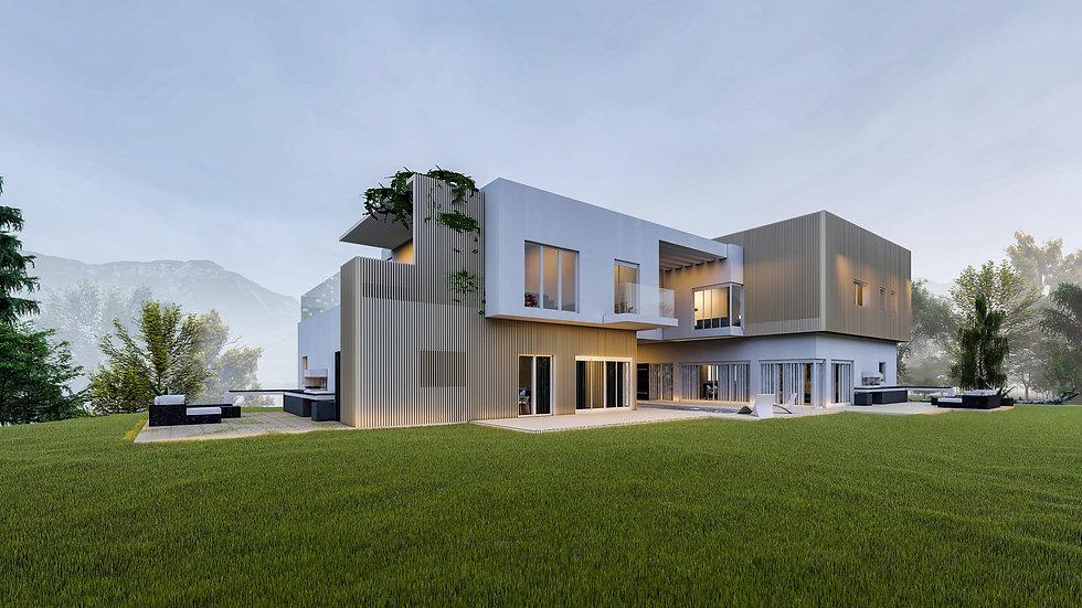 visualisation architecturale 3D d'une villa vers Martigny