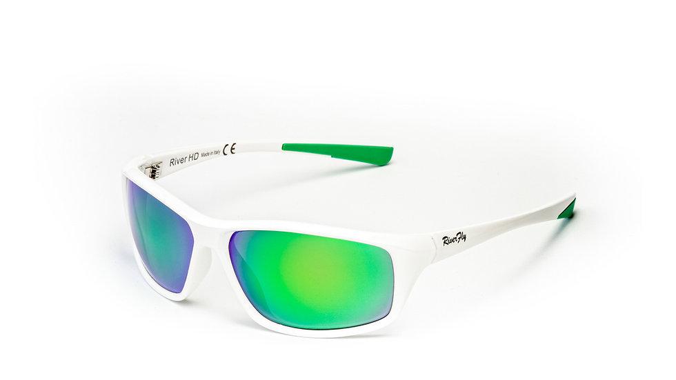 Fly - Lente Specchiata Verde / Bianco