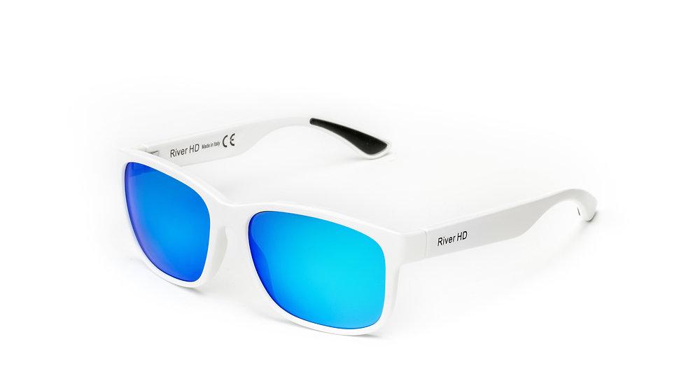 One - Lente Specchiata Blu / Bianco