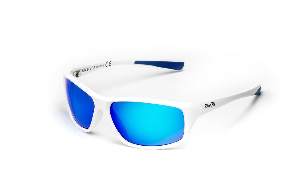Fly - Lente Specchiata Blu / Bianco