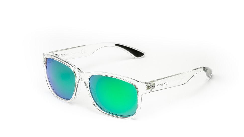 One - Lente Specchiata Verde / Trasparente