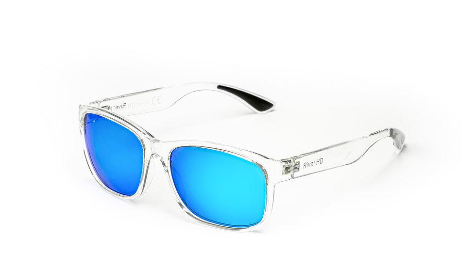 One - Lente Specchiata Blu / Trasparente